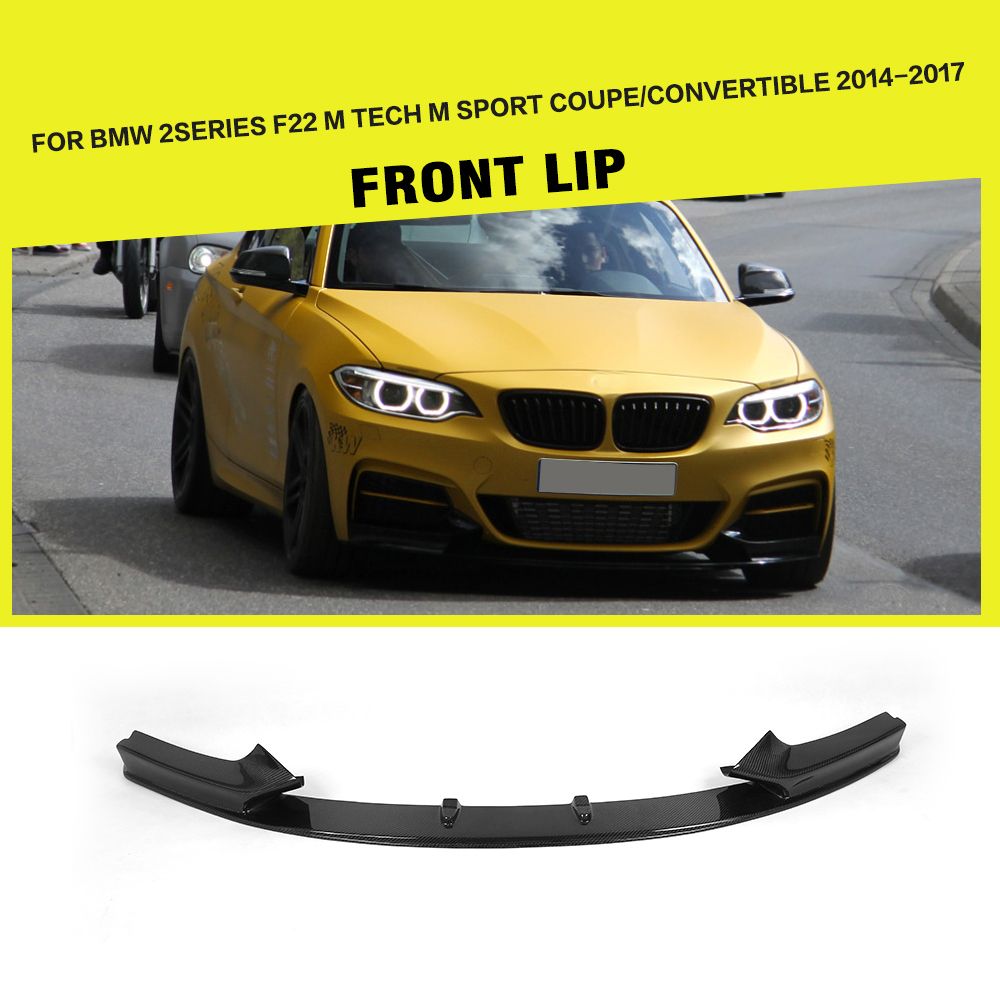 Front Bumper Lip Divisores para BMW F22 F23 M Sport Coupe Convertible 2-Porta 2013-2017 Fibra De Carbono spoiler