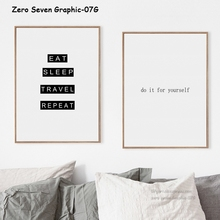 Nordic Minimalist English Phrase Canvas Art Print Picture Poster Wall Living Room Bedroom Home Decor Frescoes Frameless Draw