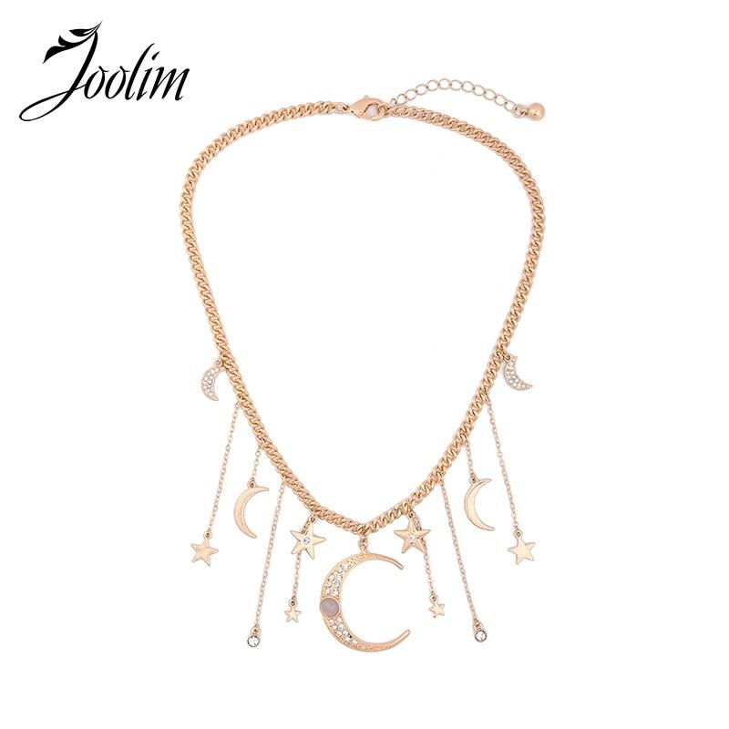 JOOLIM Jewelry Wholesale / 2017 Moon Star Zinc Aloi yg mencekik Kalung Barang Kemas Fesyen Barang Kemas Hadiah Ibu