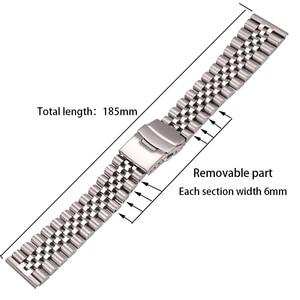 Image 2 - Roestvrij Stalen Horloge Armband Band 20Mm 22Mm 24Mm Vrouwen Mannen Zilver Solid Metal Watch Band Strap Accessoires