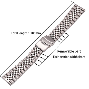 Image 2 - Stainless Steel Watch Bracelet Strap 20mm 22mm 24mm Women Men Silver Solid Metal Watchband Accessories