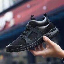 Hot sale Outdoor Fashion Comfortable Black Men shoe Flats Exercise Lace Up Fashion Leather Shoes Men Shoes Krasovki Gumshoe boty