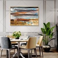 Mão-Pintado Pintura A Óleo sobre Tela Abstrata Moderna Textura Grossa Amarela Grey Abstract Wall Pictures Para Sala de estar Em Casa decoração