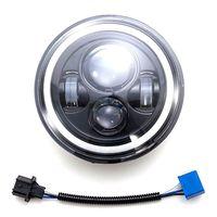 7Inch LED Headlight H4 H13 Amber Angel Eyes For JEEP CJ JK TJ Wrangler
