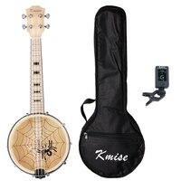 Kmise Banjo Ukulele 4 String Ukelele Uke Concert 23 Inch Maple With Bag Tuner