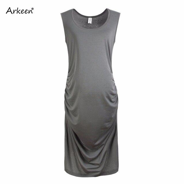 Elegant Pregnant Women Elastic Dress 2017 Casual Sleeveless Clothes ...
