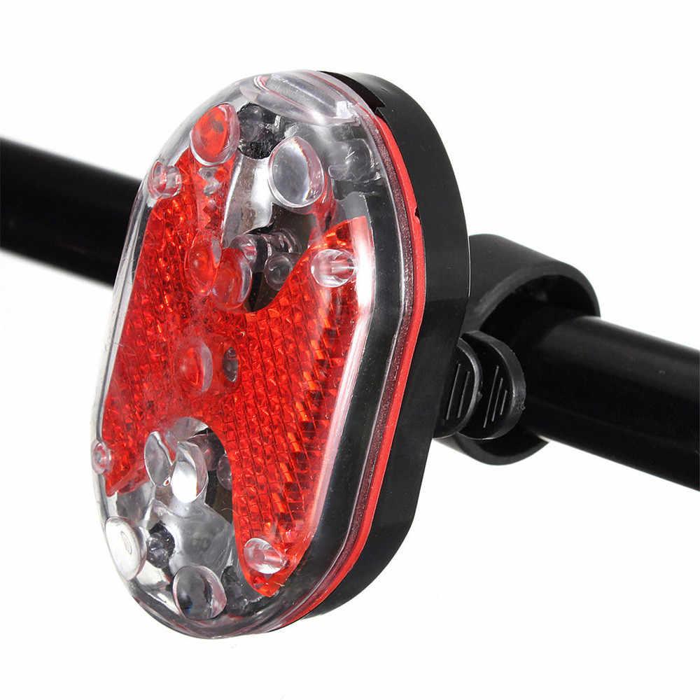 Велосипедный велосипед 5 светодиодный Передний фонарь 9 светодиодный задний фонарь Ультра-яркий светодиодный Белый водостойкий светильник # OX