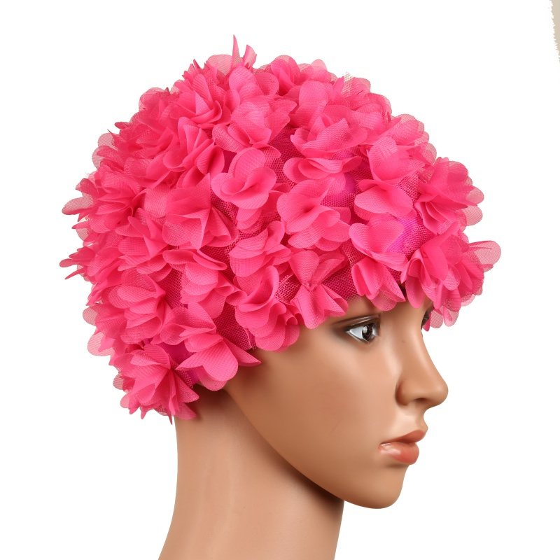 b16ecb20076 Floral Vintage Ladies Woman Swim Cap Petal Retro Swimming Hat Flower  Bathing Cap Attractive Hat-in Swimming Caps from Sports   Entertainment on  ...