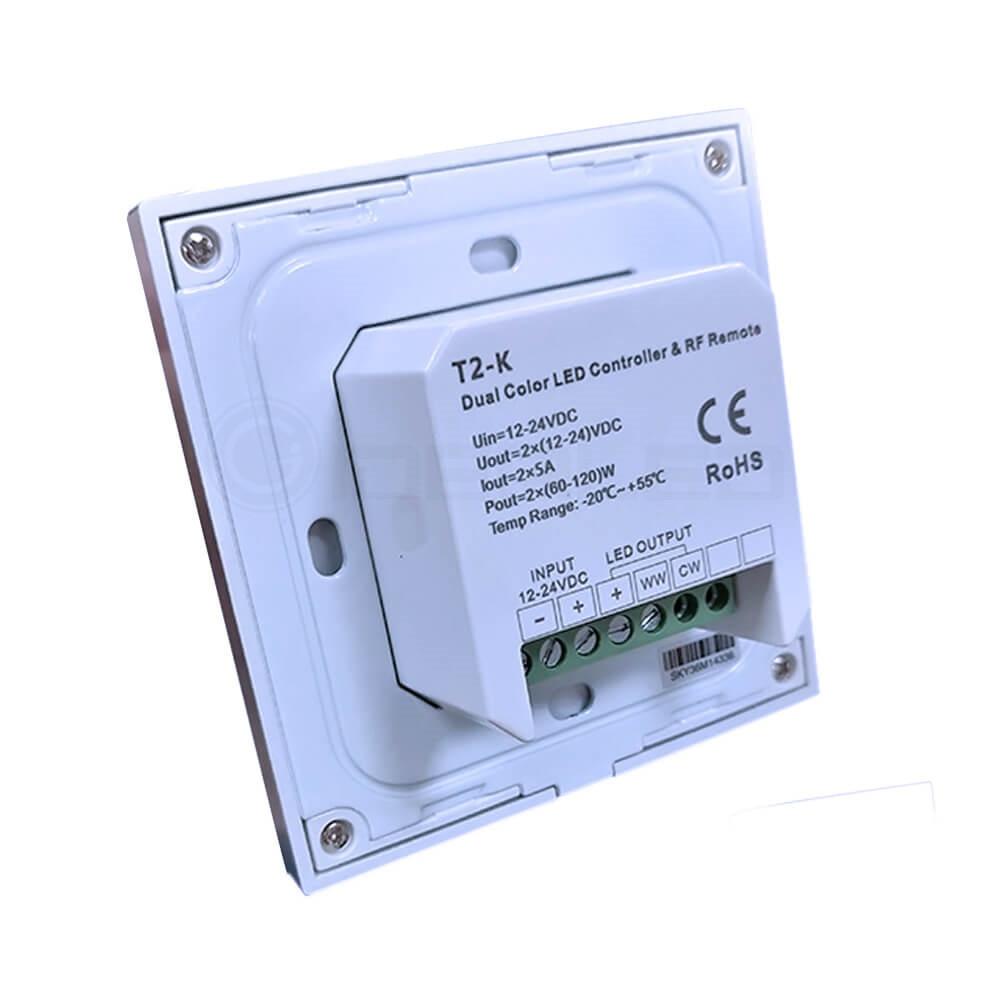 Dimmer Knob Touch LED Nəzarətçi Dönüşlü Divarda Panelə - İşıqlandırma aksesuarları - Fotoqrafiya 4