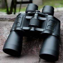 лучшая цена Long Range Binocular 10X50 Top Grade High Definition Binocular Telescope for Army High Power BAK4 Lens Hunting Telescopes