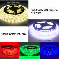 LED 5 M SMD 5050 parche tira de luz proyecto preferido DC 12 V/24 V Blanco/blanco cálido /Rojo/verde/azul IP20/IP65/IP67 (impermeable)