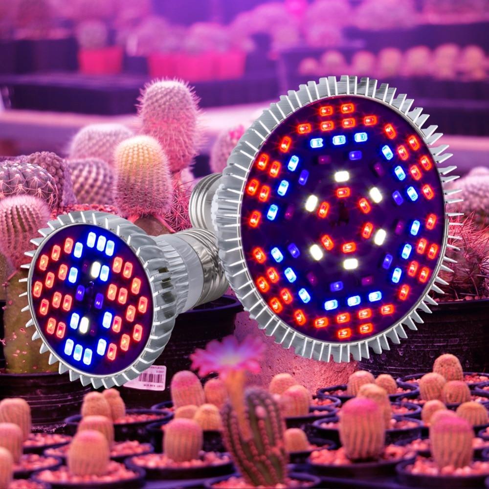 LED Grow Lamp E27 LED Full Spactrum 30W 50W 80W Grow Light 220V Planten Lamp LED Light Bulbs 5730SMD Seedling Indoor Plants 110V