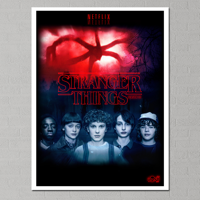 stranger things 2 Season Painting Canvas Poster Cuadros Decoracion Sheets of Wall Paintings of Nordic Tableau Poster Movie 01 in Painting Calligraphy from Home Garden