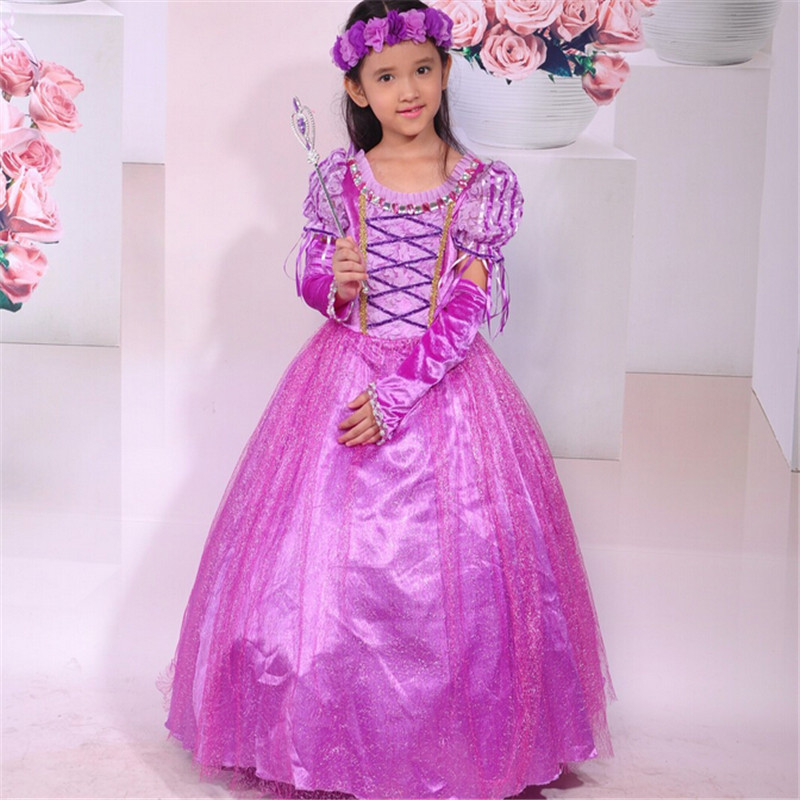 Girls Princess Dress Children Rapunze Dress Kids Girls Party Dress Halloween Girls Cosplay Costume Children Performance Clothing superhero halloween costume for girls cosplay performance dance show fancy costumes girls clothing children suit dress for girl