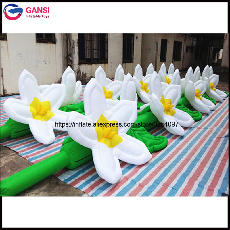 7mL inflatable advertising flower for christmas / wedding / party decoration high quality inflatable flower line with LED light 2017 vioslite 2 1m inflatable christmas tree with bag in high quality for festival decoration