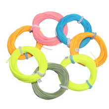 Fly Fishing WF 1 2 3 4 5 6 7 8 9WT Fly Fishing Line 100FT Weight Forward Floating Nylon Yellow Moss green Blue Orange Fly Line
