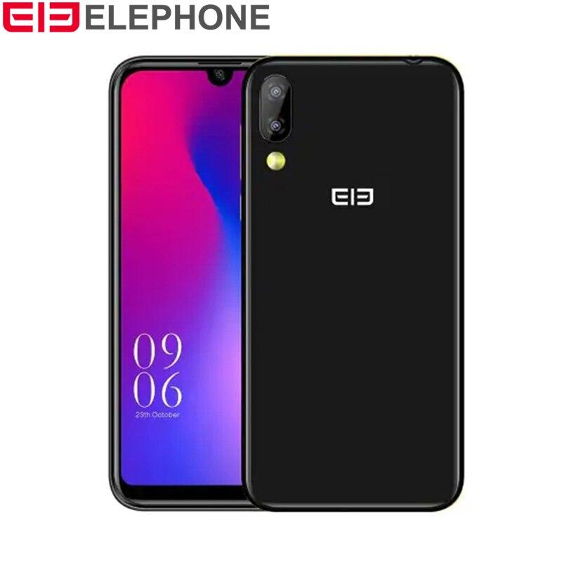 Elephone A6 Mini 4G Phablet 5.71 Android 9.0 MT6761 Quad Core 2.0 GHz 4 GB RAM 32 GB ROM 3 caméras capteur d'empreintes digitales latéral 3180 mAh