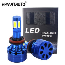 1Set Car Headlight H7 LED H4 LED H8 H9 H11 H16(JP) 9006 HB4 9005 HB3 45W 6000LM 6000K 12V 24V Auto Headlamp COB Fog Light Bulb h4 h7 h8 h9 h11 9005 car headlight 5630 33leds 6000k 800lm bright white daytime running light drl dc 12v fog lamp bulb headlamp