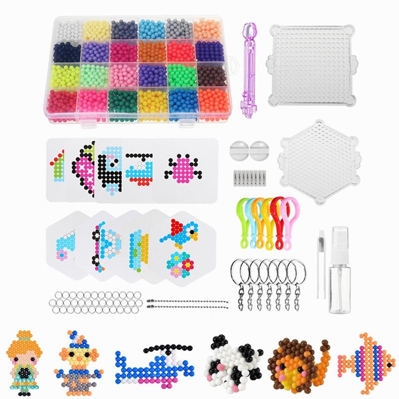 Mimi Play 24 Colors 3000pcs Water Spray Magic Beads DIY Kit Ball Puzzle Game Fun DIY handmaking 3D puzzle Educational Toys