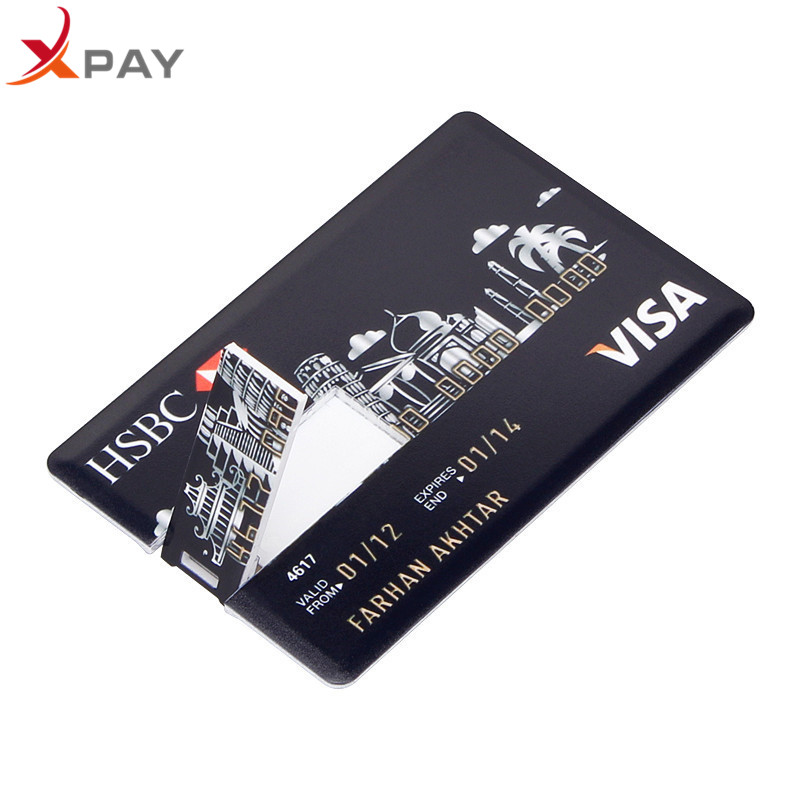 Image 5 - Wholesale Credit Card USB Flash 128GB USB 2.0 flash stick 32GB Pendrive memory stick 64GB real capacity 4GB 8GB 16GB free LOGO-in USB Flash Drives from Computer & Office
