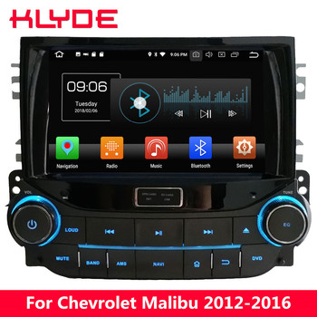 """KLYDE 8"""" 4G WIFI Octa Core PX5 Android 8.0 4GB RAM 32GB ROM BT Car DVD Multimedia Player Stereo For Chevrolet Malibu 2012-2016"""