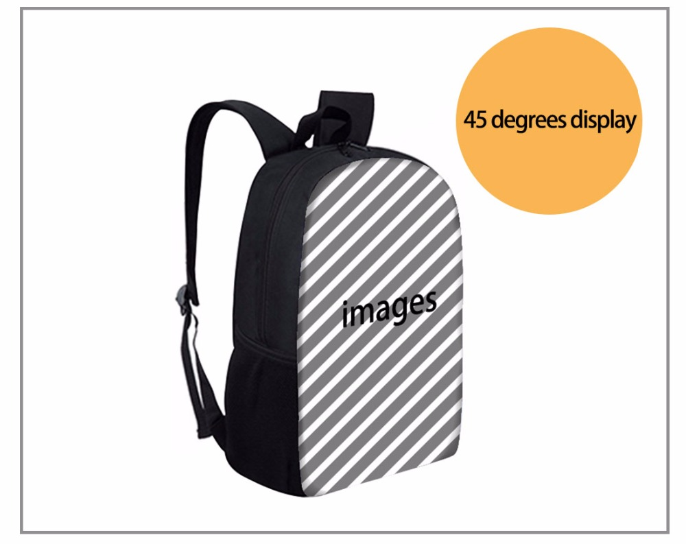 Backpack for Girls 3D Schnauzer Husky Printed Backpacks Children Canvas Back Pack Preppy Style Rucksack Bag School Bags
