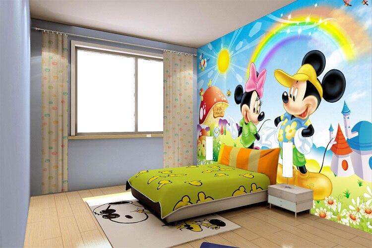 Large mural backdrop bedroom children 39 s room murals child for Dormitorio animado