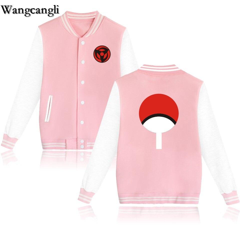 Wangcangli 2017 Naruto Uchiha Syaringan Cartoon Baseball Jacket Monolithic Sweatshirt Men Women Anime Clothes Plus 4XL In Basic Jackets From