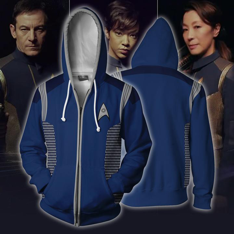 Free shipping woman and man's Star Trek: Discovery coat Hoodie jacket JQ-2622