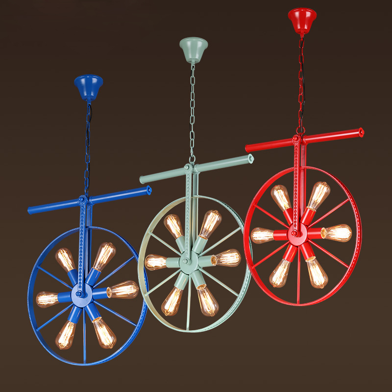 High-quality American Industrial Wind Color Retro Bar Light Loft Bar Internet Cafe Restaurant Creative Wheel Chandelier mp620 mp622 mp625 projector color wheel mp620 mp622 mp625