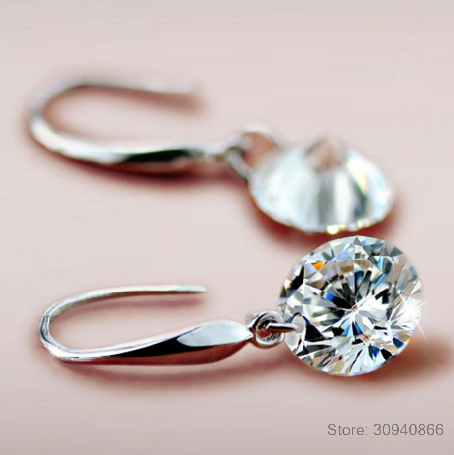 2019 Fashion Jewelry 925 Silver Earrings Female Crystal From Swarovski New Woman Name Earrings Twins Micro Set
