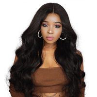 250 Denstiy Lace Front Human Hair Wigs For Black Women Natural Color Brazilian Remy Hair Body
