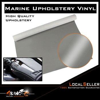 "51"" x 54"" Car Interior Waterproof Decor High Gloss Grey  Marine Vinyl Fabric Faux Leather"