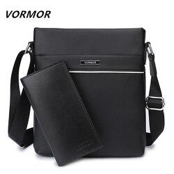 VORMOR известный бренд Повседневное Для мужчин сумка Бизнес кожа Для мужчин Курьерские сумки Винтаж плеча Crossbody сумка для мужской дропшиппинг