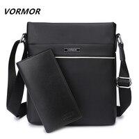 VORMOR Famous Brand Casual Men Bag Business Leather Men Messenger Bags Vintage Shoulder Crossbody Bag For