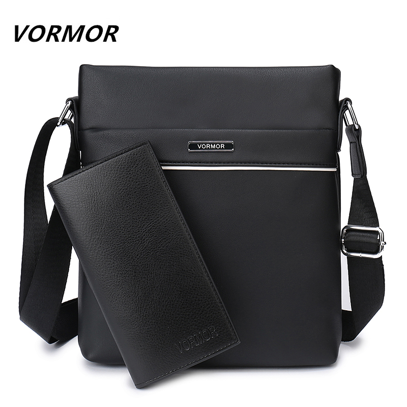 все цены на VORMOR Famous Brand Casual Men Bag Business Leather Men Messenger Bags Vintage Shoulder Crossbody Bag For Male DropShipping онлайн