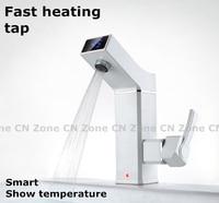Мгновенный Электрический кран для горячей воды дисплей Температура быстрый нагреватель кран для кухни холодной двойного использования до