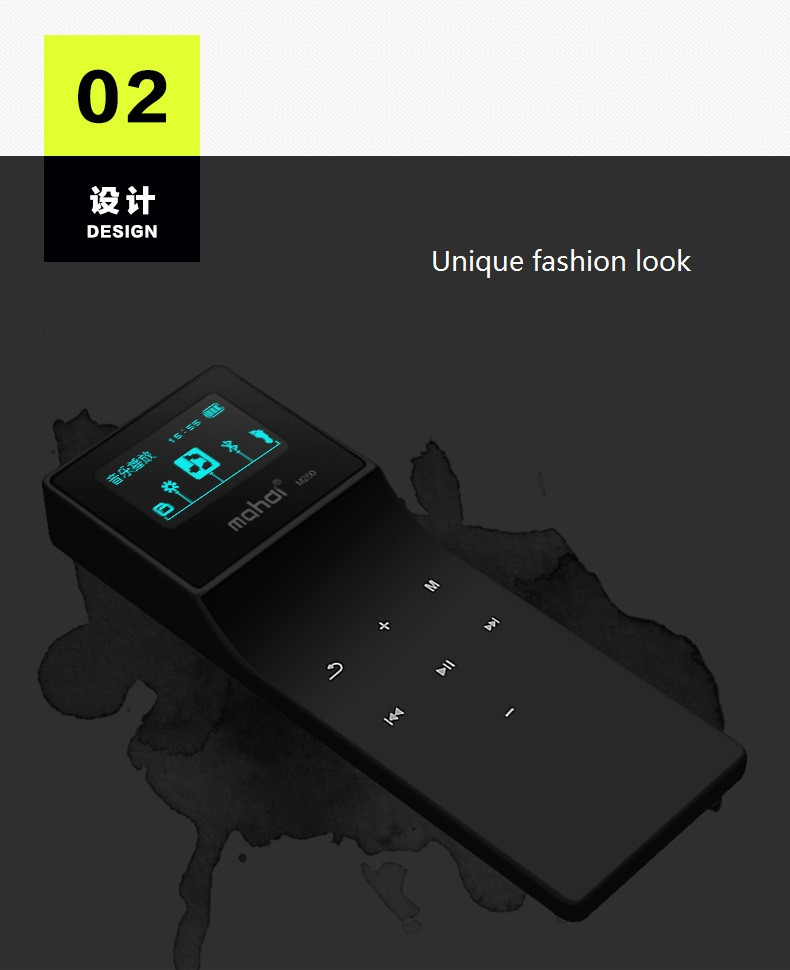 Mahdi Bluetooth MP3 Player 8G Lossless Music Player Touch MP3 24 Languages With Pedometer Recorder E-book Sport Clip Armband  (4)