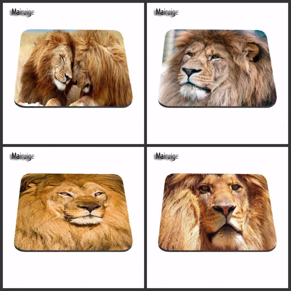 African Lion Living In Slovakia Funny Custom Mouse Pad Skin Non Slip Durable Rubber Mousepad for PC Optical Mouse Gaming Mat