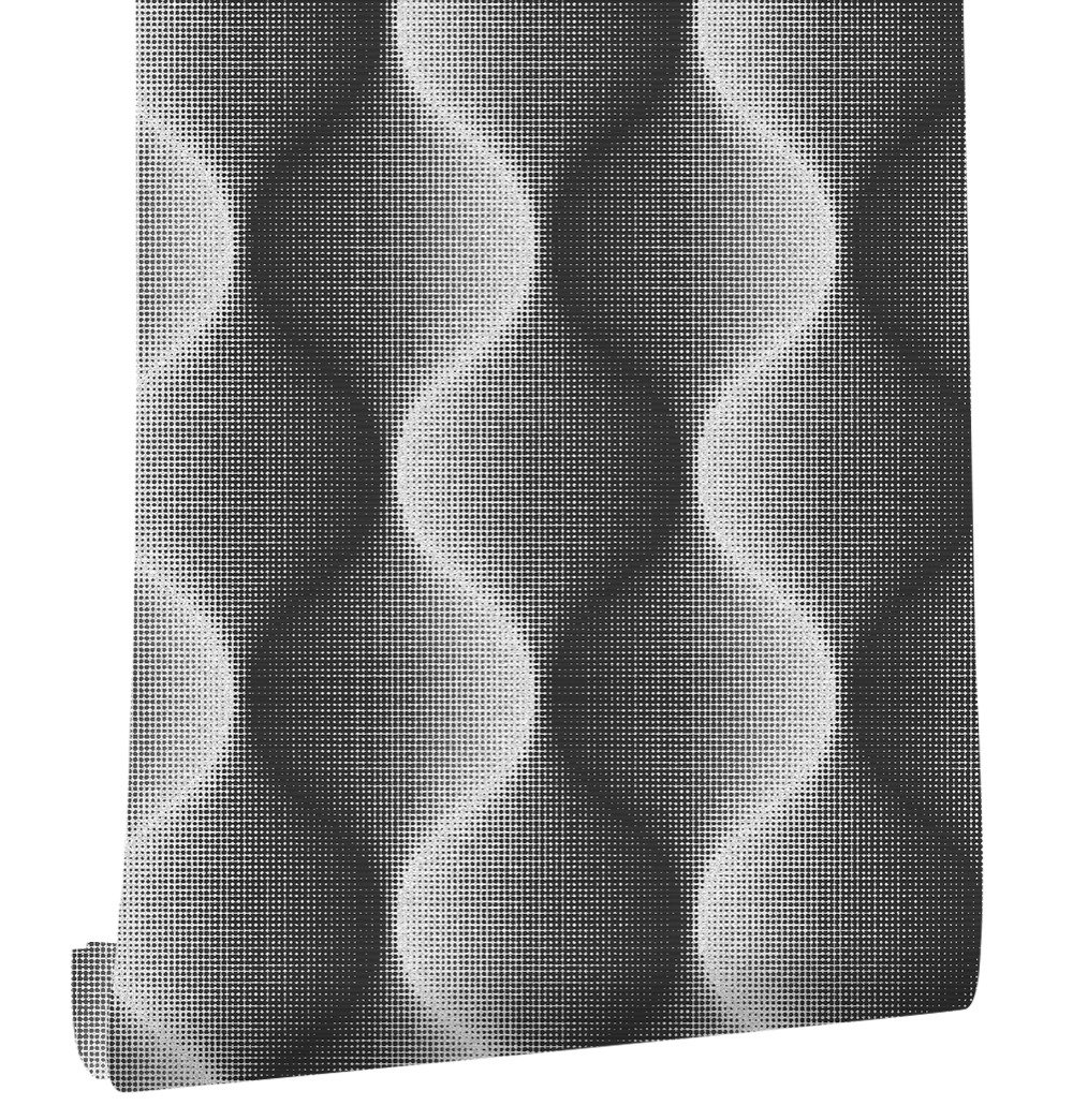 HaokHome Visual 3d Modern Luxury Geometric pvc Wallpaper Grey/Black Living room TV background ceiling wall paper Wall Decoration кусторез электрический bosch ahs 45 16 0600847a00