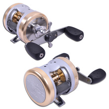 HBC3530 Aluminum Alloy Baitcasting Fishing Reel Antirust Aluminum Spool Trolling Reel Bait Cast Reels Righ Hand Drum Lure Wheel