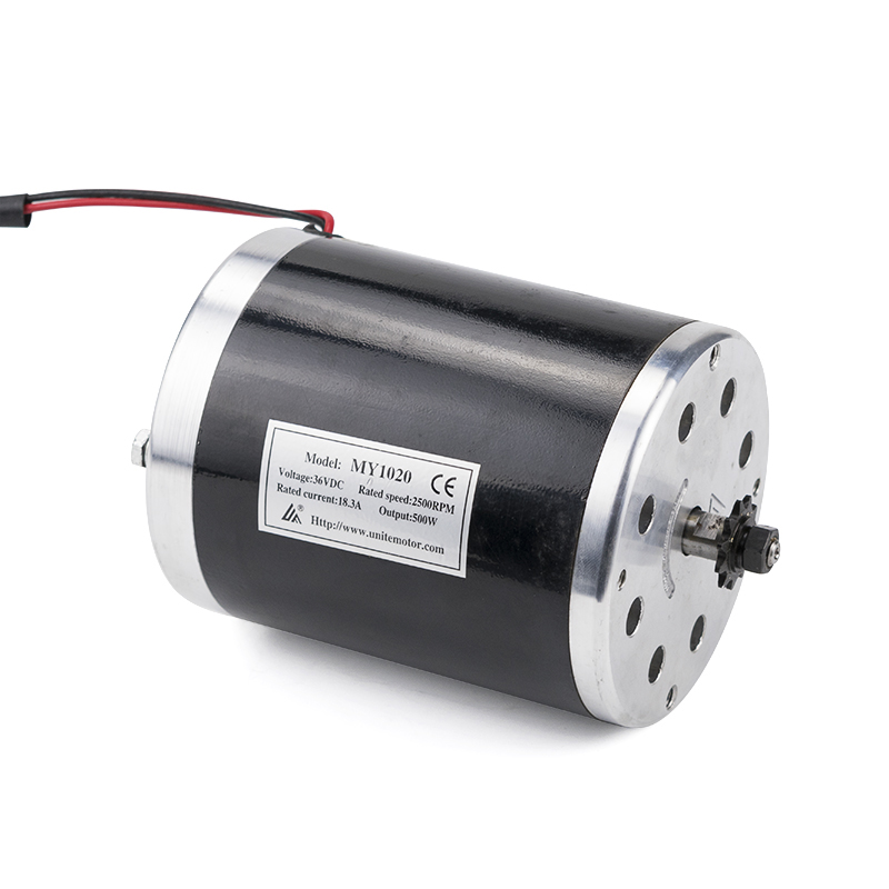 MY1020 <font><b>500W</b></font> 24V/36V/48V High Speed Brush DC <font><b>Motor</b></font> <font><b>Electric</b></font> Bicycle <font><b>Motor</b></font> e <font><b>Scooter</b></font> <font><b>Motor</b></font> Ebike Brushed Gear <font><b>Motor</b></font> image