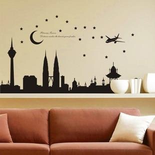 1pc high quality 140*77cm balck malaysia twin tower living room