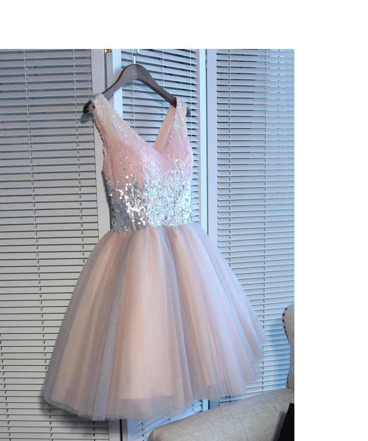 6b8e3be982 New Arrival vestido largo Pink Short Evening dress abendkleider 2019 Formal  dress elegant abiye gece elbisesi ever pretty