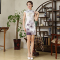Summer Short Choengsam Slim Flower Chinese Traditional Dress Plus Size Vintage Wedding Cheongsam for Women 18