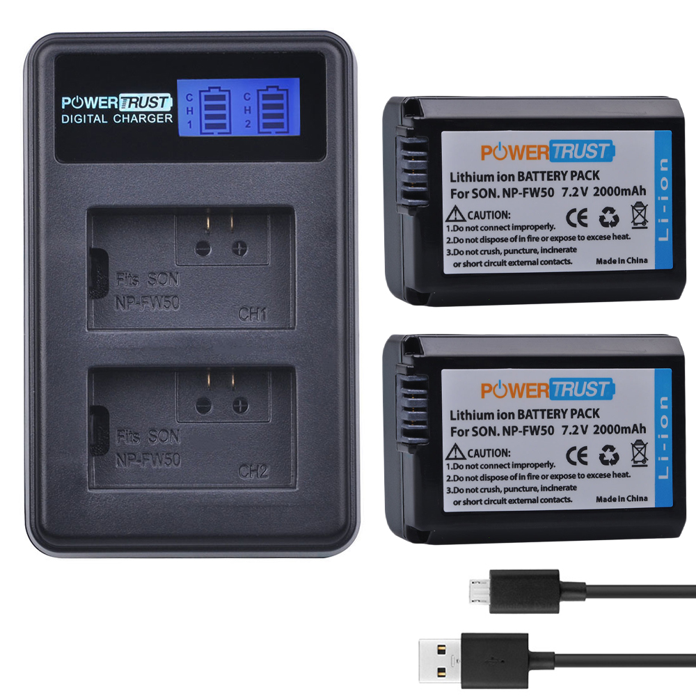2Pc NP-FW50 NP FW50 FW50 Battery + LCD USB Dual Charger for Sony Alpha a6500 a6300 a7 7R a7R a7R II a7II NEX-3 NEX-3N NEX-52Pc NP-FW50 NP FW50 FW50 Battery + LCD USB Dual Charger for Sony Alpha a6500 a6300 a7 7R a7R a7R II a7II NEX-3 NEX-3N NEX-5
