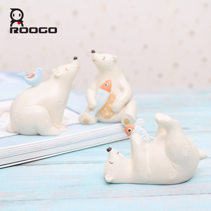 Brilliant Us 13 4 30 Off Roogo Home Decoration Accessories Golden Polar Bear Ornaments Car Table Decor Figurines Small Statue Lovely Garden Decorations In Download Free Architecture Designs Scobabritishbridgeorg