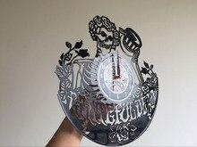 Grateful Dead Art Vinyl Record Clock Wall Decor Home Design reloj la crosse dial vision
