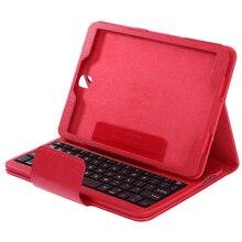 Wireless Bluetooth Keyboard PU Leather Case Stand Portable Teclado Sem Fio Klavye Cover for Samsung Galaxy