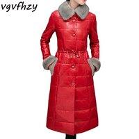 Warm Winter Coat Women 2017 New Female Thick Jackets Faux Fox Fur Collar Leather Jacket Slim Women Clothing Jaqueta Outerwear